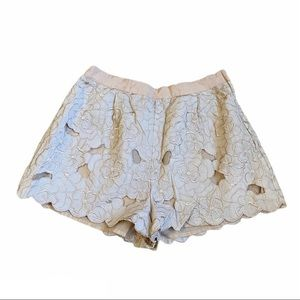 H&M lace lined floral print shorts
